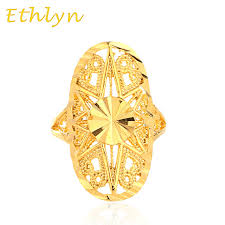 golden rings design images Ethlyn dubai golden ring gold color engagement adjustable size jpg