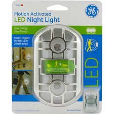 Solar Night Lights by Ge Nightlight Motion Activated Brushed Nickel Walmart Com