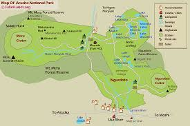 National Park Map Usa by Arusha National Park King Of Tanzania Safaris Ltd