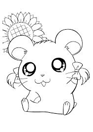 cartoon coloring pages online hamtaro bijou smiling hamtaro coloring pages pinterest hamtaro