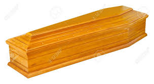 wooden coffin wooden coffin in perspective isolated stock photo picture and
