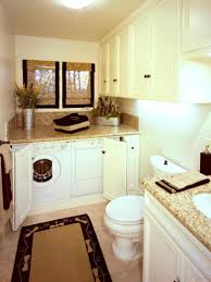 exposed unfinished basement bathroom laundry room ideas small