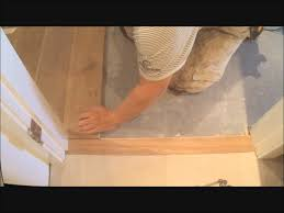 Laminate Flooring Youtube How To Install Flat Hardwood Floor Transition To Tile Make It Fit