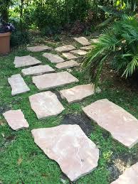 diy stepping stone path