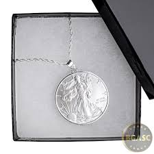 necklace gift box images Buy american silver eagle coin necklace pendant chain in gift jpg