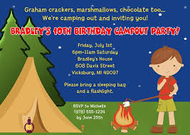 camp out camping birthday party invitations boy camp out camping