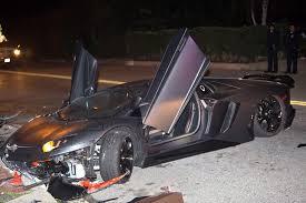 chris brown corvette chris brown s lamborghini aventador crashed and abandoned in
