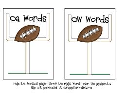 field goal oa ow sort learning fun pinterest phonics word