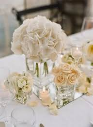 simple white flower centerpieces minimalist white