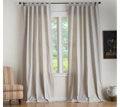 Curtains With Tabs Textured Cotton Tab Top Drape Pottery Barn
