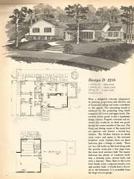 vintage house plans mid century homes split level homes