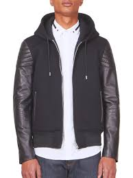 givenchy multimedia leather jacket hoo in black for men lyst