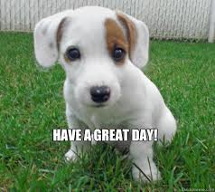 Have A Great Day Meme - have a great day cute puppy of death quickmeme