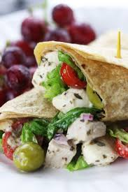 creamy italian chicken salad wrap the fed up foodie