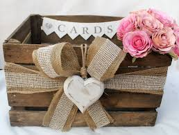 Shabby Chic Wedding Decor For Sale by Vintage Wooden Wedding Card Heart Post Box Rustic Bushel Crate