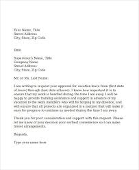 formal request letter annual leave request letter 48 examples of
