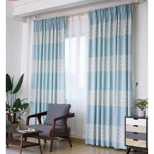 Slider Door Curtains Beige And Yellow Patterned Apartment Curtains