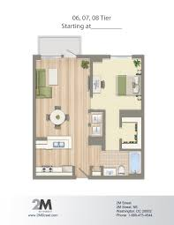 One Bedroom Apartment Plans by 1 Bedroom Apartments In Dc Washington Dc Floor Plans Dc Home Plans