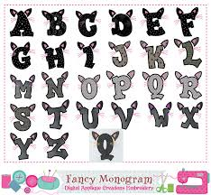 halloween letters applique halloween monogram a z applique