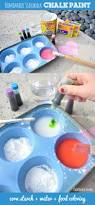 homemade sidewalk chalk paint a super fun craft for kids www