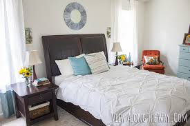 Budget Bedroom Makeover - one week flash mob room refresh on a budget view along the way
