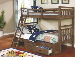 460372 coaster malcolm wire brushed acacia twin full bunk bed