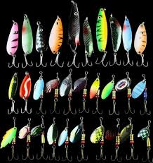 only for promotion metal lure 30pcs mix size color fishing