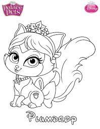 coloring pages disney princess palace pets stunning coloring