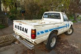 nissan pickup stance old parked cars 1984 nissan 720 4x4