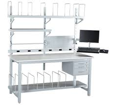 packing table with shelves packing tables shipping stations workplace modular systems llc