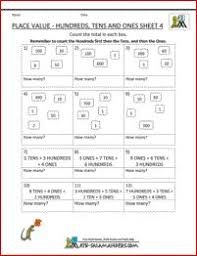free math place value worksheets tens ones 3 math pinterest