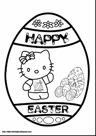 superb hello kitty easter coloring pages with easter printable