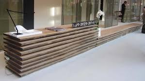 emejing modern wood reception desk gallery moder home design