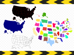 Fifty States Map Usa Map Svg Files For Cricut Silhouette United States Map 50