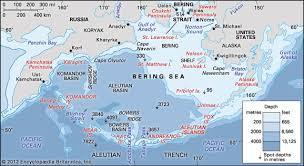 map world seas bering sea and strait sea pacific britannica