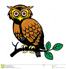 owl on a tree branch royalty free stock photo image 35695465