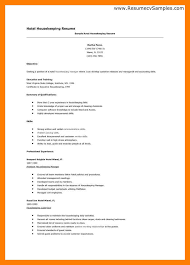 resume housekeeping position eliolera com