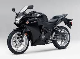 cbr sport bike black color dashing sport bike is reading for riding honda cbr250