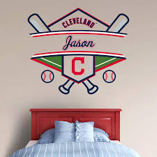cleveland indians personalized name wall decal shop fathead for cleveland indians personalized name fathead wall decal
