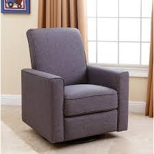 Glider Chairs For Nursery Abbyson Hampton Grey Nursery Swivel Glider Recliner Chair Free