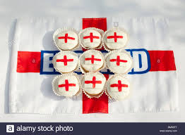 Flag Cakes St Georges Flag Cup Cakes On A England Tray For The World Cup