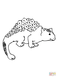 ankylosaurus coloring pages free coloring pages