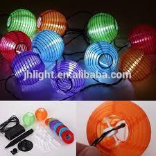10 mini light string solar fairy string lights 10 mini colorful fabric lanterns for