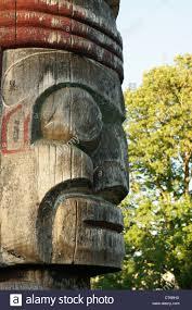 kanada fläche fläche des profils auf der haida tlingit centennial totempfahl in