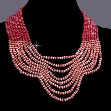 crystal bead necklace jewelry images High quality handmade jewelry set crystal beads necklace earring jpg