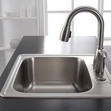 25 Inch Kitchen Sink Kraus Ktm25 Stainless Steel 25 Drop In Single Bowl 18