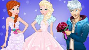 disney frozen princess elsa anna rapunzel jack wedding dress up