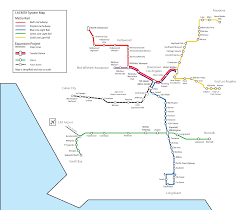 Metro Redline Map File Map Metro Los Angeles Mid 2011 With Expo Line Png Wikimedia