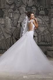 beautiful wedding gowns custom made 2015 beautiful court illusion transparent back
