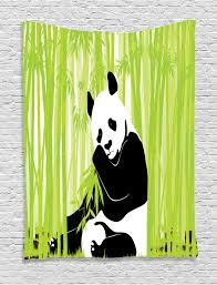 Forest Home Decor by Animal Tapestry Wall Hanging Panda In Bamboo Forest Home Decor Ebay